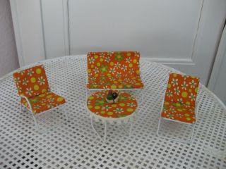 Puppenmöbel Für Puppenhaus - 4 - Teilige Gartenmöbel Metall Bild