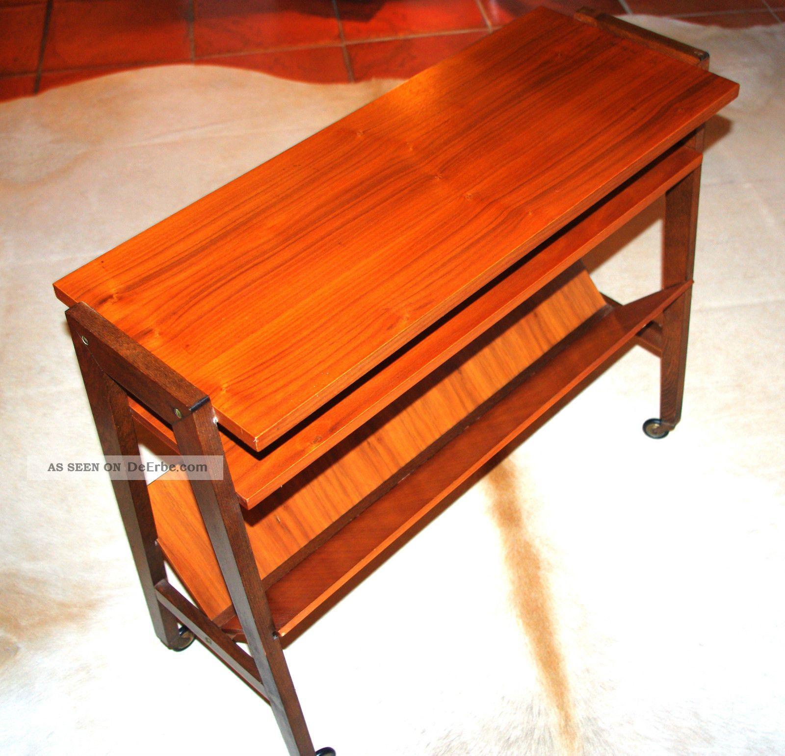 Vintage design 60er 70er zeitungsregal regal tisch zeitung for Design tisch 70er