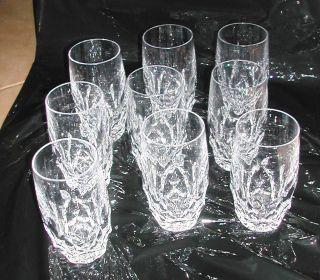 9 Kleine Bleikristall Gläser,  Klassischer Schliff Bild