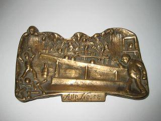 Massive Messing Schale Ideal FÜr Kegler - Visitenkartenschale - Bronze Kegeln Bild