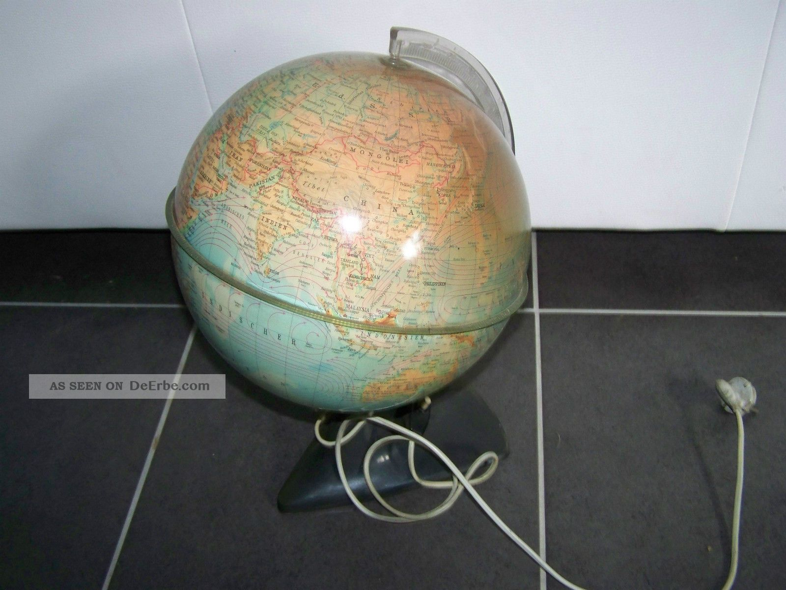 Globus Mit Beleuchtung   Alterer Globus Mit Beleuchtung Dachbodenfund