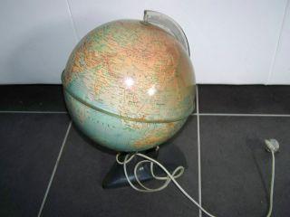 Älterer Globus Mit Beleuchtung,  Dachbodenfund Bild