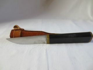 Puukko Tapio Wirkkala Hackmann Finnland Messer Finland Knife With Leather Sheath Bild