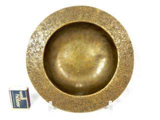 Schön Verzierte Handgearbeitete Art Déco Messing Schale / Brass Bowl Gepunzt Bild
