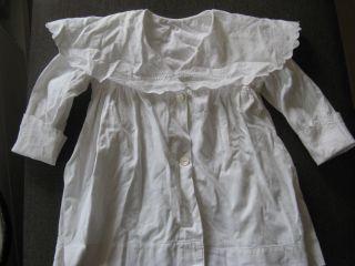 Puppen Kleid Weiß Mit Stickerei Puppe Bild
