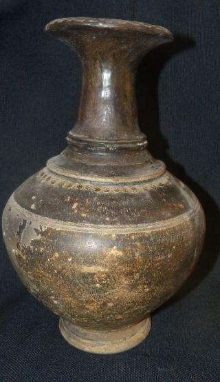 Kambodscha - KÖnigreich Der Khmer 12 - 13 Jh.  Grosse Vase 33 Cm - Auktionshaus Bild