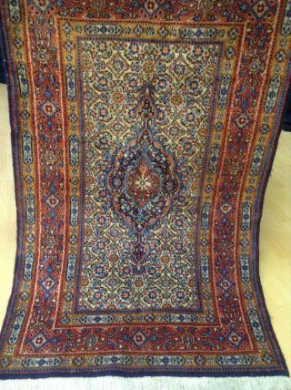 Wunderschöner Echter Perser Moud Teppich Orientteppich 115 X 73 Aus Iran Bild
