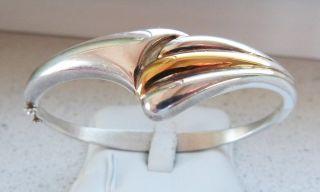 Art Deco 925er Silber 585 Gold Armreifen Armspange Quinn Franz Scheuerle Fs Top Bild