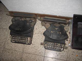 2 Uralte Schreibmaschinen Adler No.  7 - 1899 - 1900,  Archo D7 Von 1920 Bild