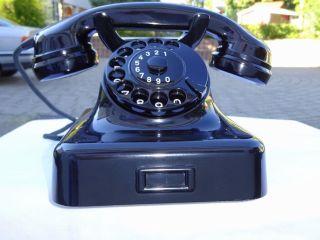 Telephone W48 Telefon Heibl 1959 Bakelit W48 Telefono 100 Funktion Antik Post Bild