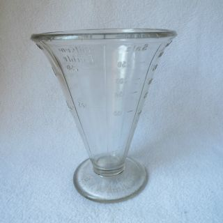 Alter Wilmking Gwg Glas - Messbecher Pressglas Glasmessbecher Glas 250ml Top D.  R.  P Bild