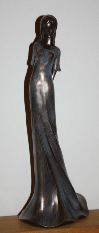 Plastik/skulptur Bronzefarben Junges Mädchen Bild