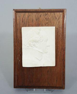 Reliefiertes Gips Halbportrait,  Darstellung Des Johann Wolfgang Von Goethe Bild