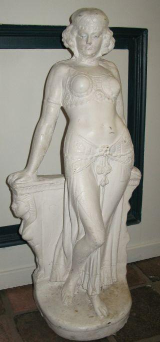 Große Jugendstil - Skulptur,  Frauenstatue,  Um 1910 Bild