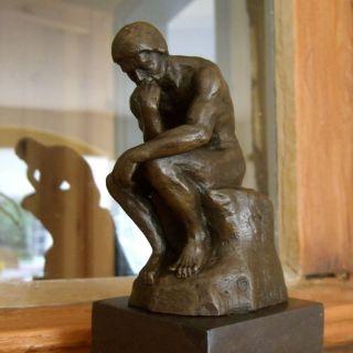 Skulptur Der Denker,  Bronze Figuren Hochwertige Schreibtisch Skulpturen Bild