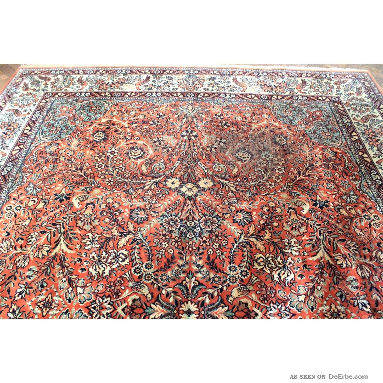 gewebter palast orient teppich blumen v gel kum nain tappeto carpet 400x300cm. Black Bedroom Furniture Sets. Home Design Ideas