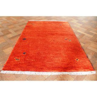 Wunderschöner Handgeknüpfter Orient Teppich Gabbeh Carpet Tappeto Rug 180x120cm Bild