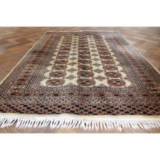 Alter Gewebter Orient Teppich Buchara Jomut Motive Carpet Rug Tappeto 200x135cm Bild