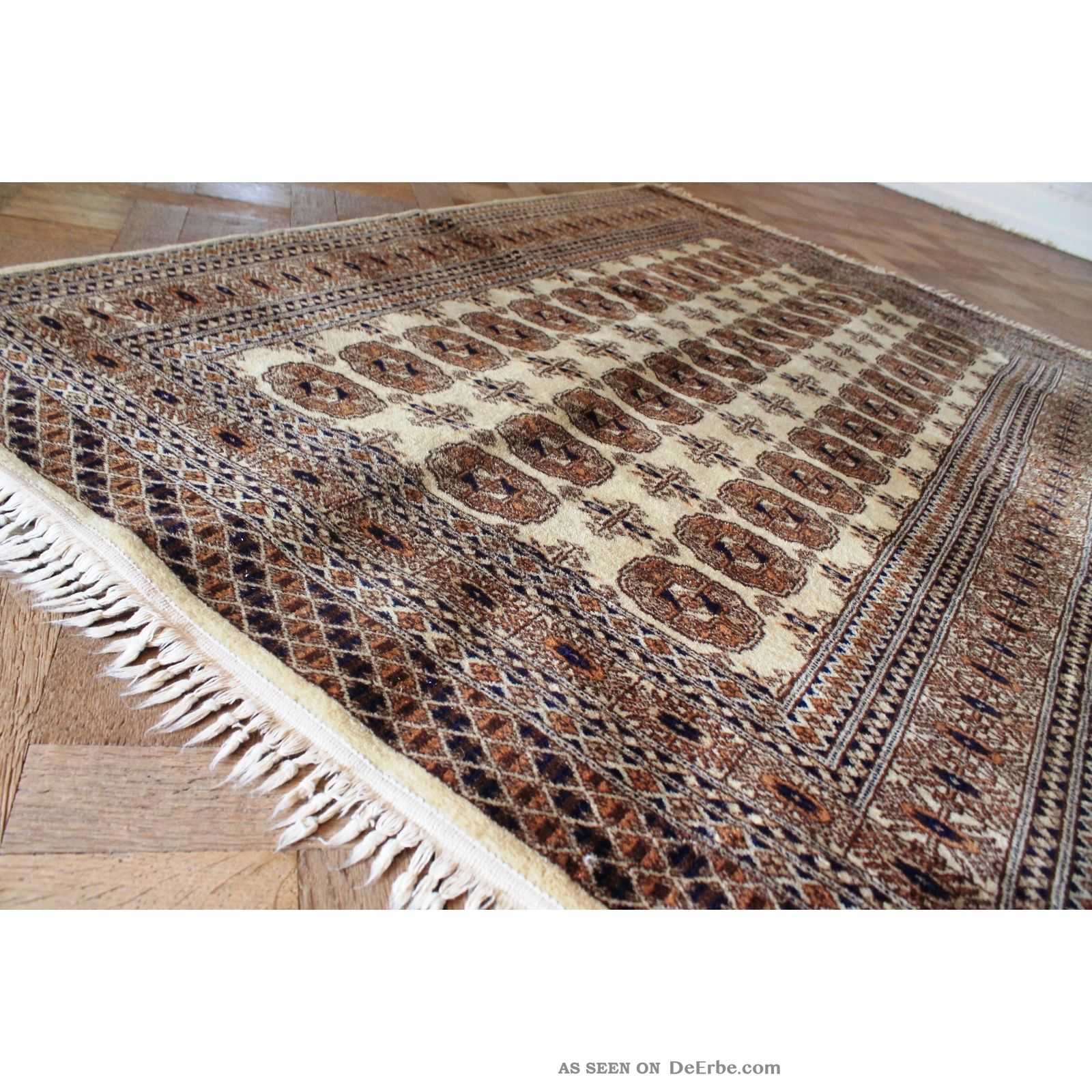 alter gewebter orient teppich buchara jomut motive carpet. Black Bedroom Furniture Sets. Home Design Ideas