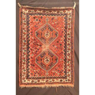 Antiker Handgeknüpfter Orient Teppich Gaschgai Kazak Carpet Old Rug 170x117cm Bild
