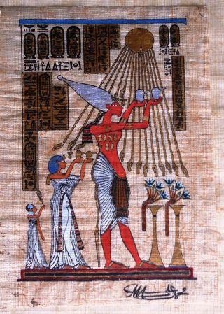 Ägyptisches Papyrus Bild 14,  7 X 10,  5 Cm Ohne Rahmen Bild