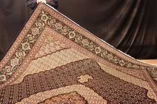 Königlicher Mahi Korkwolle M.  Seide 350x250cm  Orient Teppich Rug Bild