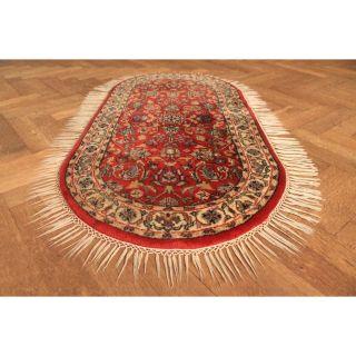 Wunderschöner Handgeknüpfter Orientteppich Blumen Nain Rug Carpet Tapis 140x70cm Bild