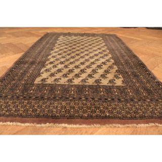 Alter Handgeknüpfter Orient Teppich Buchara Jomut Rug Carpet Tappeto 150x90cm Bild