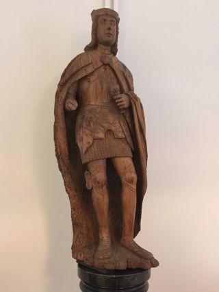 Alsolute Sensation Gotik Gotische Ritter Figur Um 1300 - 1400 Ad 110 Cm Bild