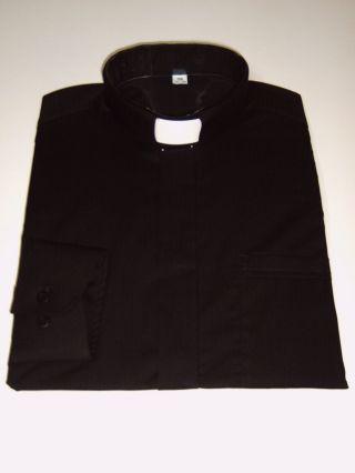 Priester,  Collar,  Priesterhemd,  Collarhemd,  Schwarz,  Langarm,  Alle Größen Bild