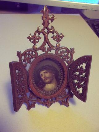 Jesus Bild Holzrahmen Antik Bilderrahmen Bild