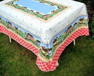 Tischdecke 140 X 180 Für Küche Garten Terrasse Landhaus Bunt Baumwolle Italy Bild