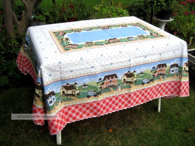 tischdecke 140 x 180 f r k che garten terrasse landhaus bunt baumwolle italy. Black Bedroom Furniture Sets. Home Design Ideas