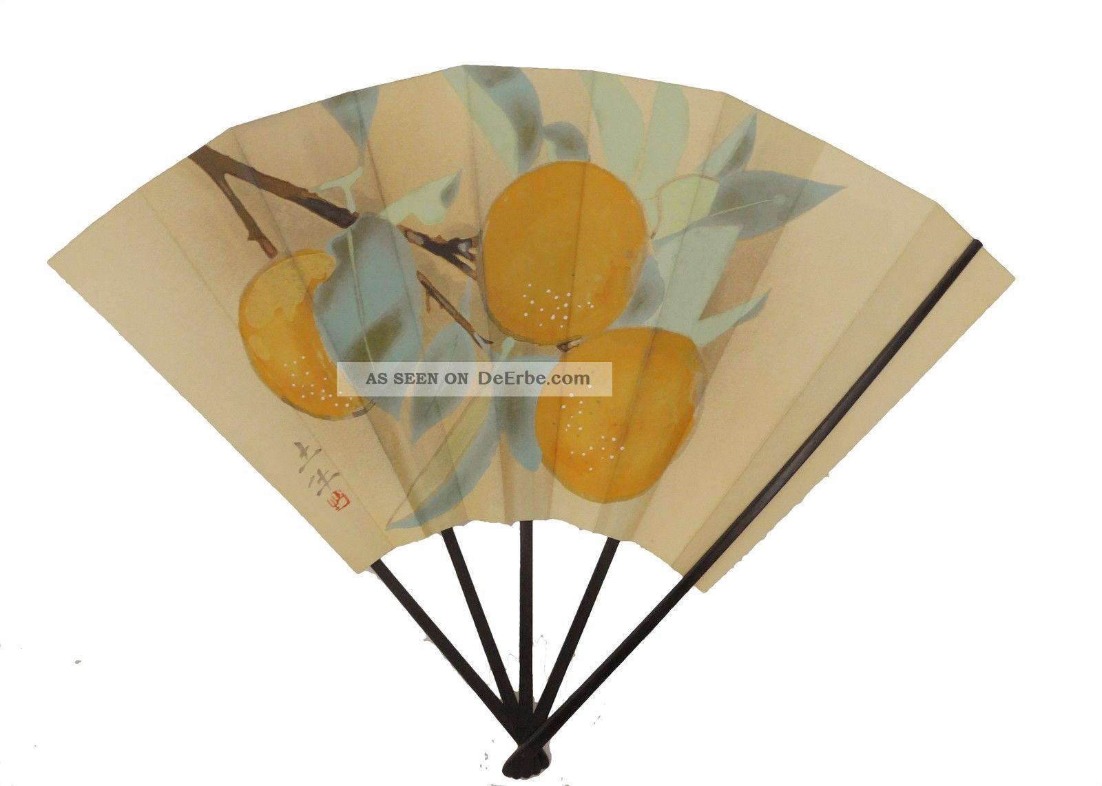 japanische alte habdgemalte gro e f cher f r dekoration gute. Black Bedroom Furniture Sets. Home Design Ideas