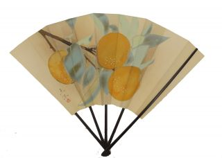 Japanische Alte Habdgemalte Große Fächer Für Dekoration Gute Bild