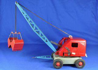 Blechspielzeug / Tin Toy Gama 280 Kran Anhänger / Crane Trailer,  1960 - Er / - Ies Bild