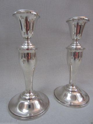 2kerzenständer,  Kerzenleuchter Paar - Gorham In 925,  / - Sterling Silber,  18cm.  725gramm Bild