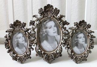 3er Bilderrahmen Barock Silber Antik Schnörkel Optik Rahmen Bild