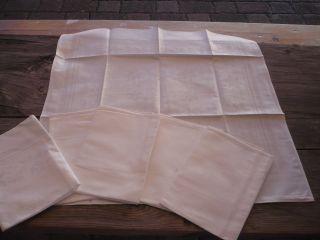 Aus Oma`s Zeiten - 6 Weiße Stoffservietten - Strukturmuster - Maße: 48x50 Cm (f) Bild