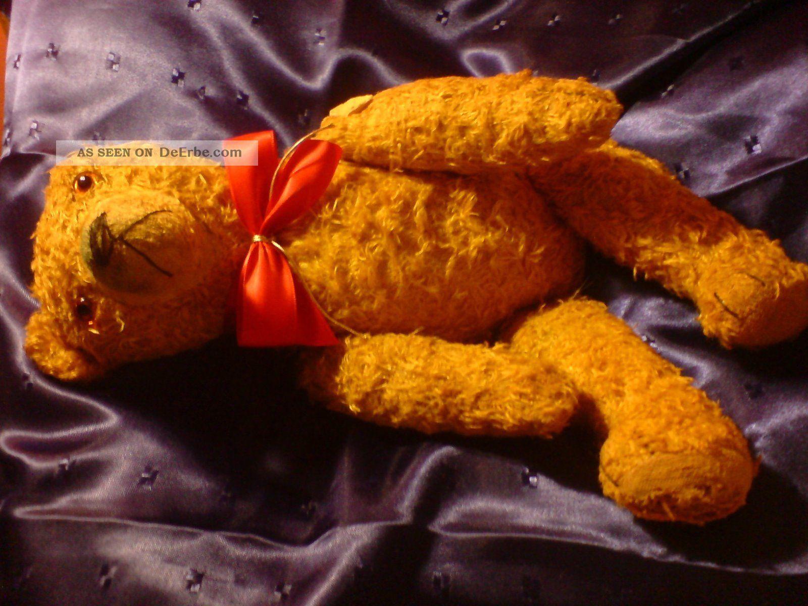 Teddy Bär Sehr Alter Bär Ca.  40cm Stofftiere & Teddybären Bild