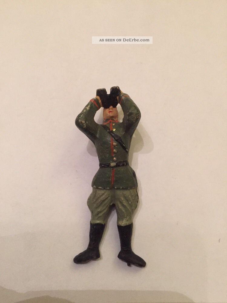 Antiker Masse Elastolin Soldat Ohne Helm 7,  5 Cm Serie Gefertigt vor 1945 Bild