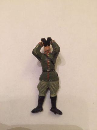Antiker Masse Elastolin Soldat Ohne Helm 7,  5 Cm Serie Bild