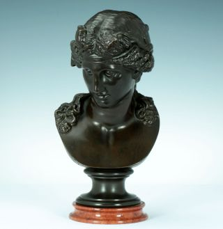 Dionysos Büste Bronze Italien 1860 Nach Der Antike Kapitol Skulptur Statue Figur Bild