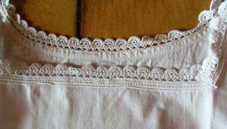 Altes Nachthemd Unterkleid Ca.  Gr.  48/50 Leinen? Häkelborte Wenig Getragen (86) Bild