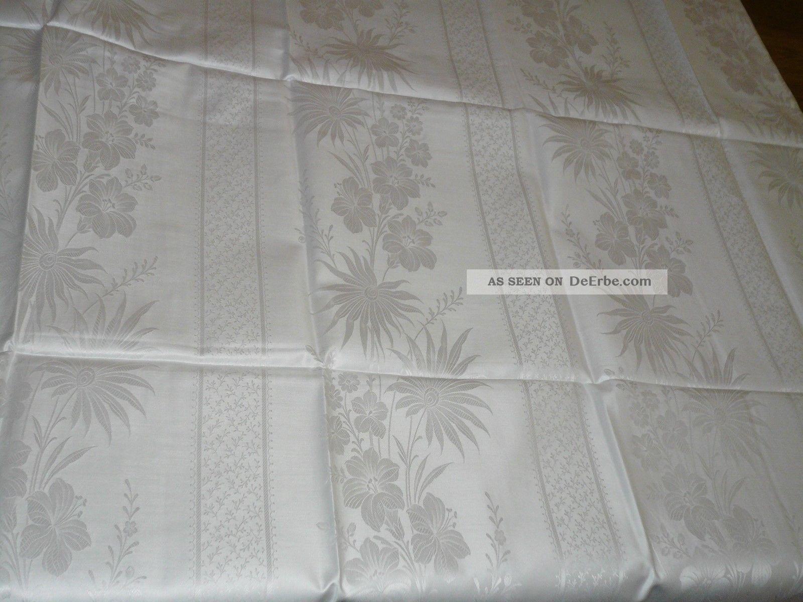 2 tgl mako brokat damast blumen bettw sche witt weiden vintage unbenutz. Black Bedroom Furniture Sets. Home Design Ideas