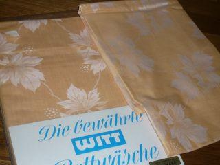 2 - Tgl Mako Mako Damast Blumen Bettwäsche Witt Weiden Vintage Unbenuzt Bild