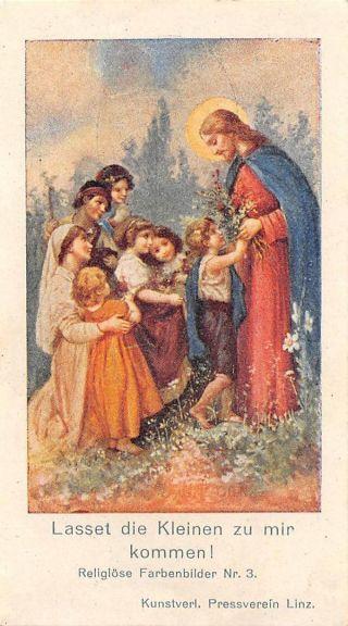 Fleißbildchen Heiligenbild Gebetbild