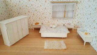 Crailsheimer Schlafzimmer 60 Er Jahre Kunststoff 1 :12 Für Die Puppenstube Bild
