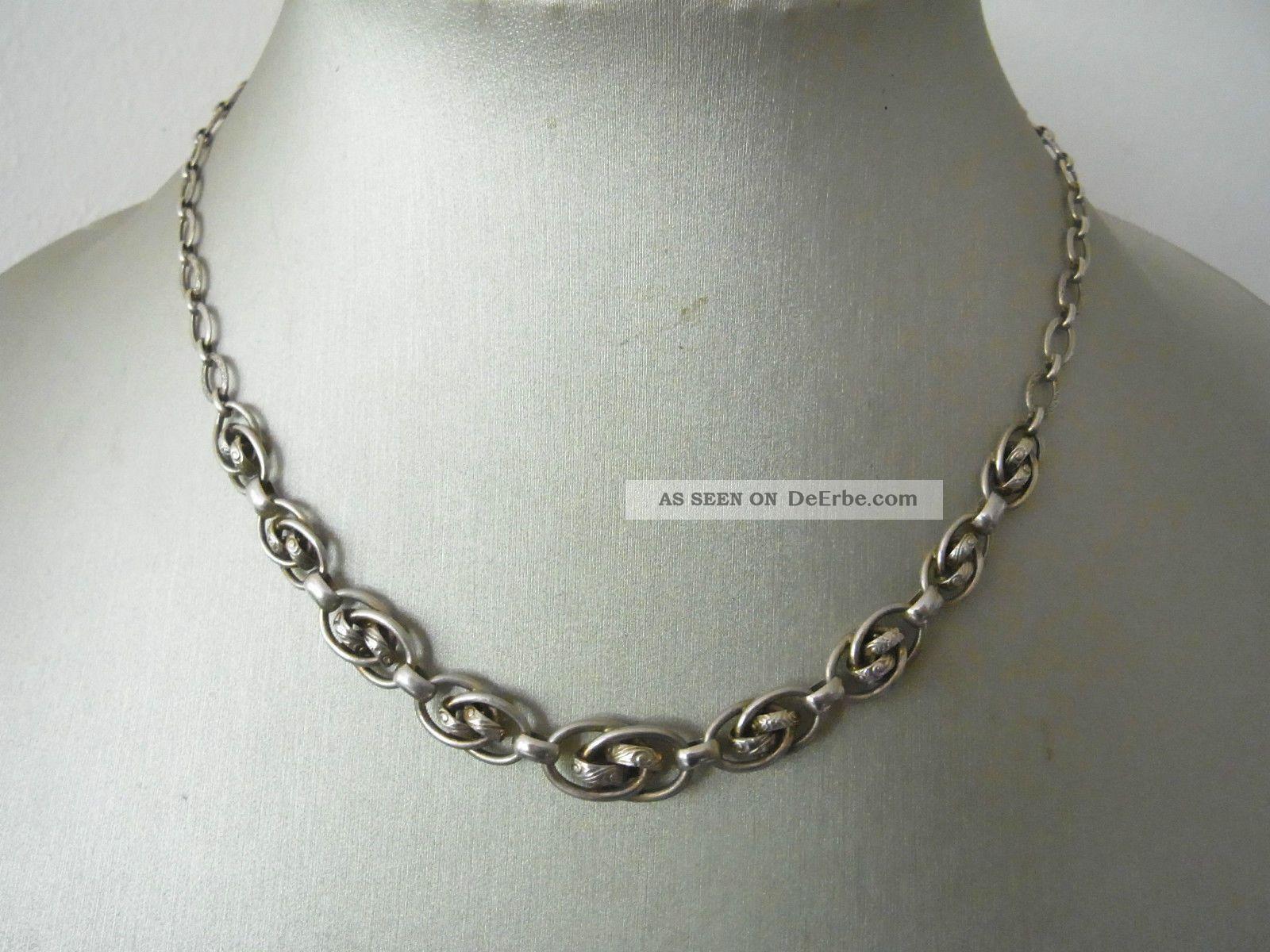 Zeittypisches Art Deco Collier Silber 835 Schmuck nach Epochen Bild