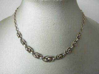 Zeittypisches Art Deco Collier Silber 835 Bild